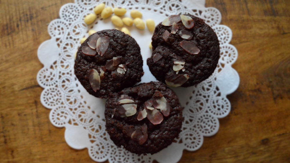 Beetroot chocolate muffins