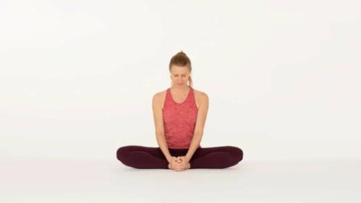 Bound angle pose Baddha Konasana Ekhart Yoga