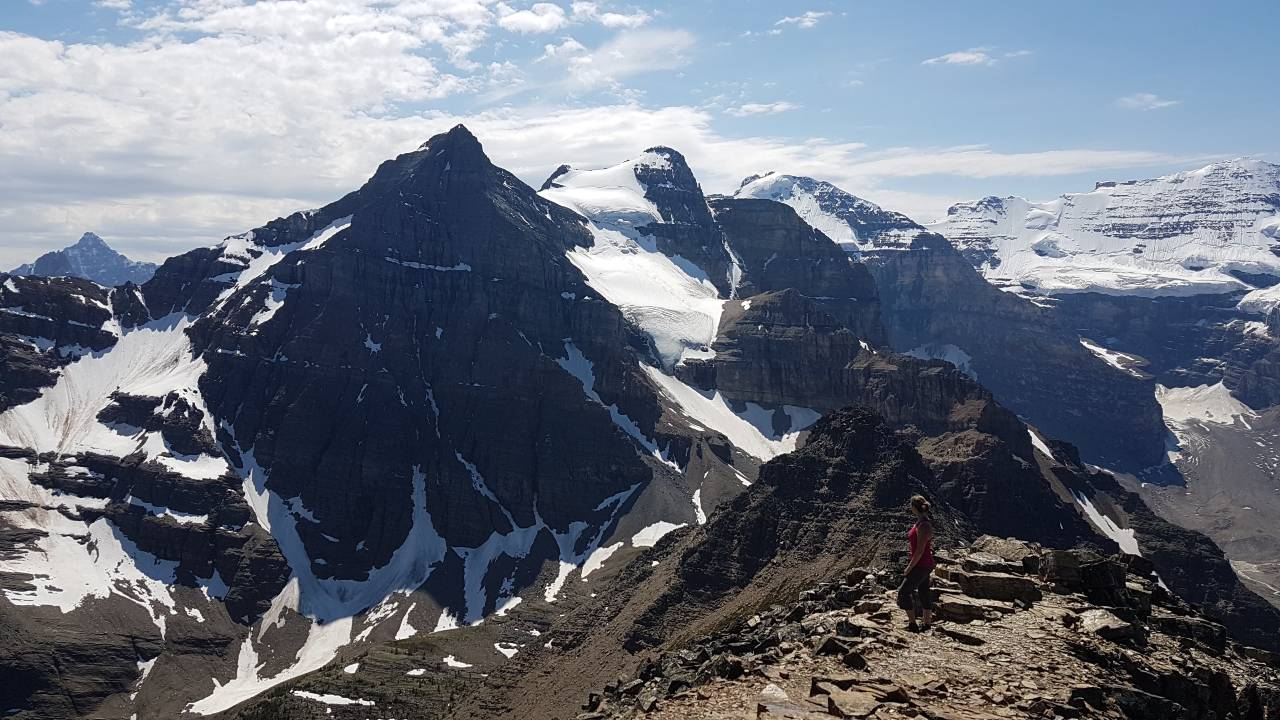 Christine Wushke in the Canadian Mountains