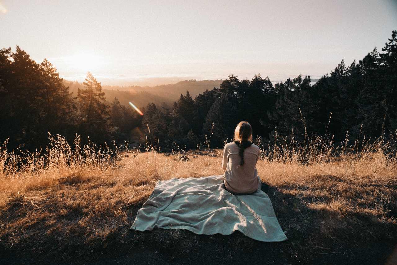 Woman sitting outside_Dharma