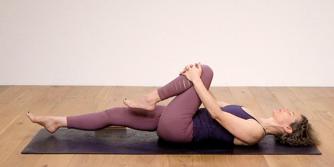 Sandra Carson, recline lunge pose