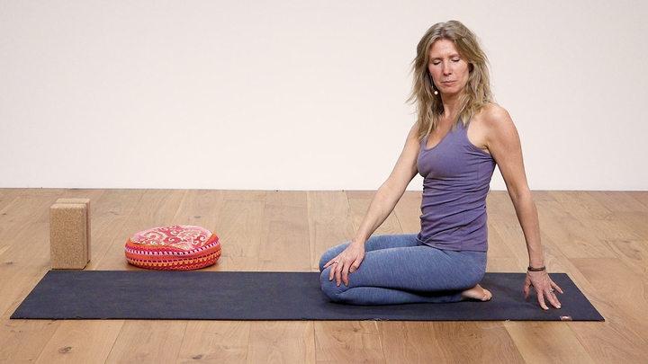 Ester practicing yoga