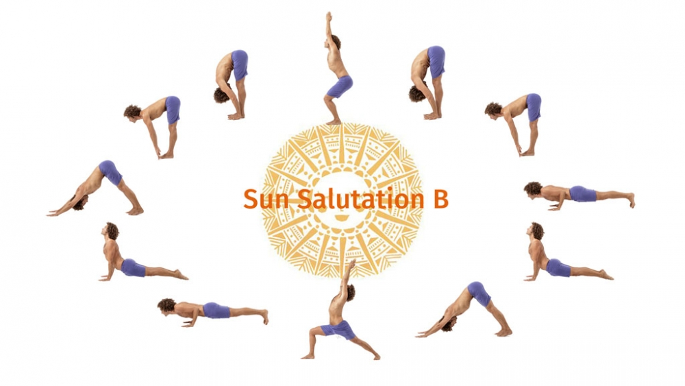 Sun salutation b sequence with the breath