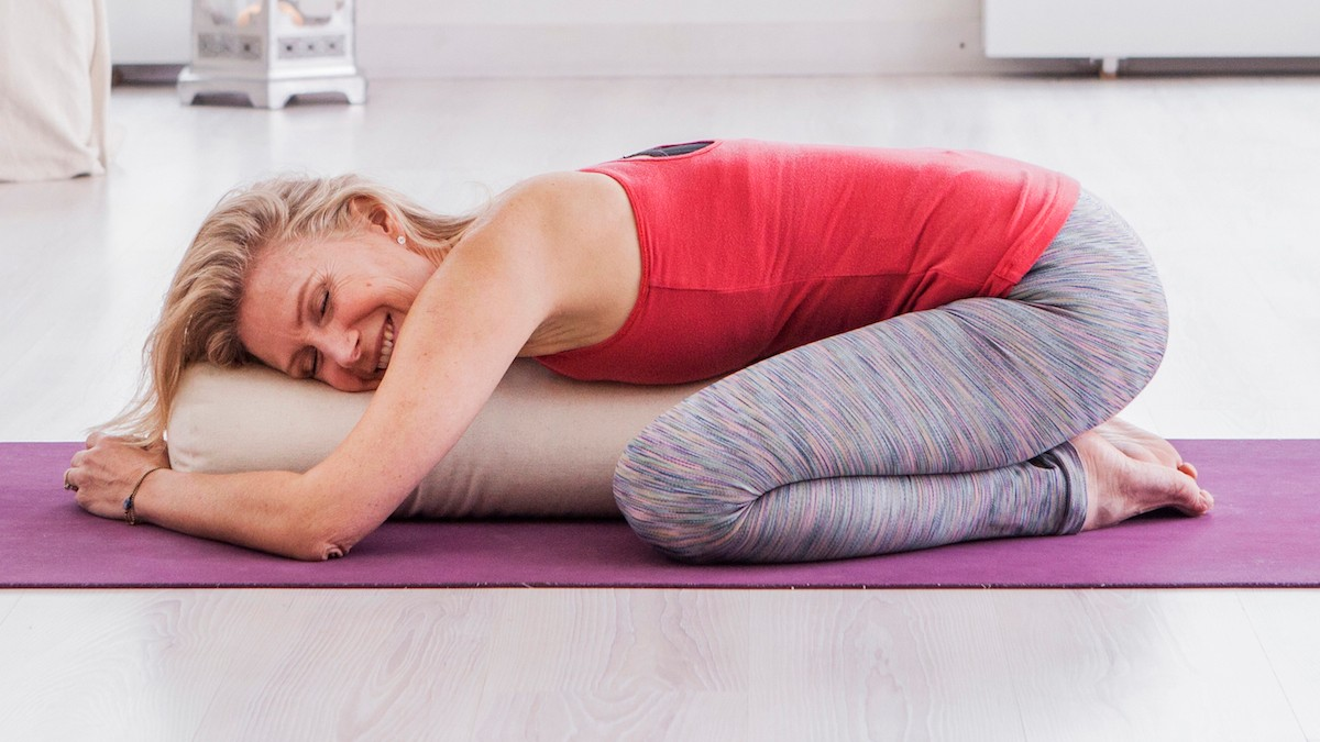 Esther Ekhart in Childs poseYoga as a healing practice