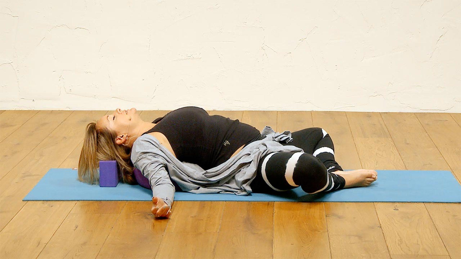 A bedtime yoga practice for deep sleep