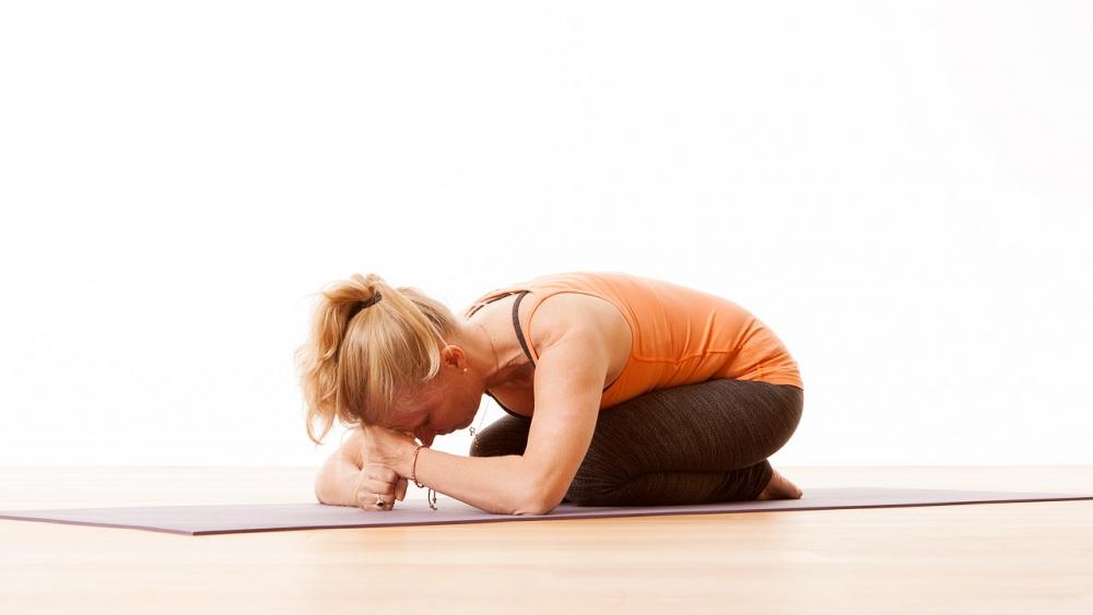 child pose variations Ekhart Yoga