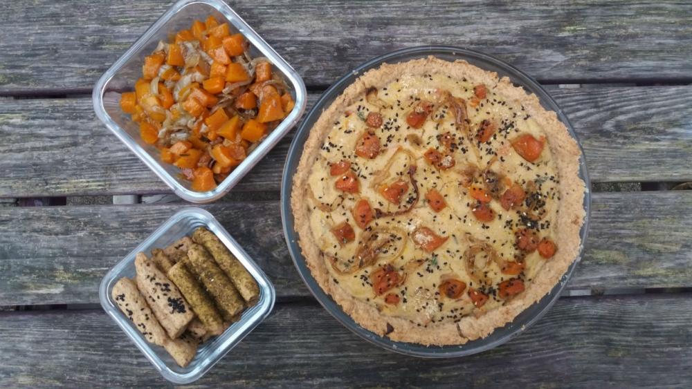vegan butternut squash quiche