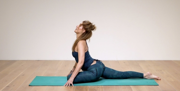 Open and explore your Pigeon pose
