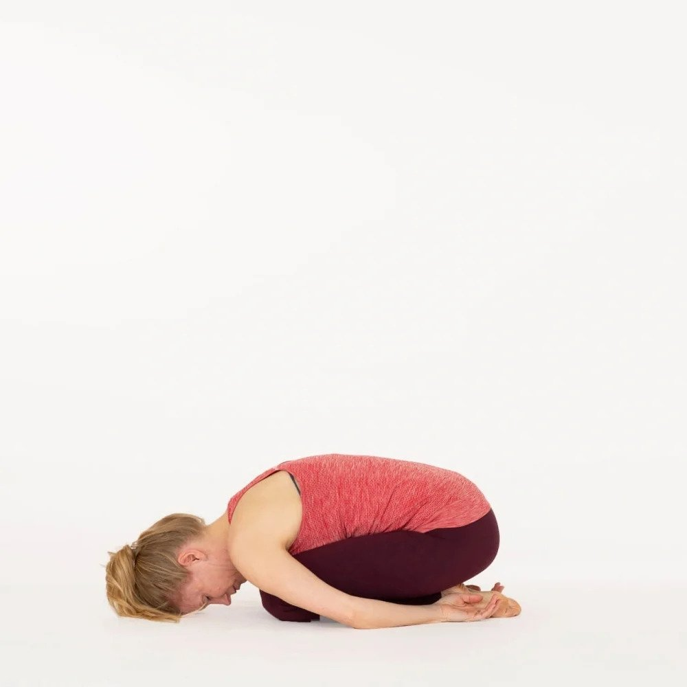 Childs pose Balasana Ekhart Yoga