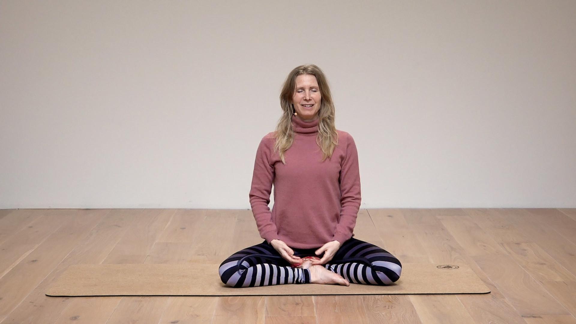 Ester Ekhart practicing yoga