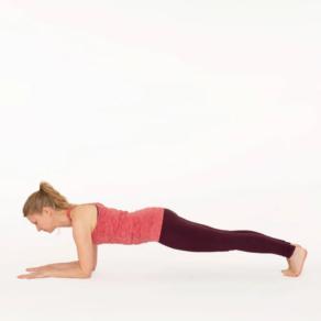 Forearm plank pose Esther Ekhart