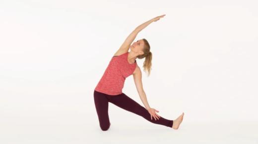 Gate pose Parigasana Ekhart Yoga