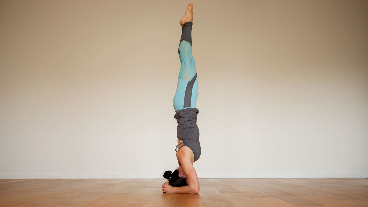Headstand yoga inversion