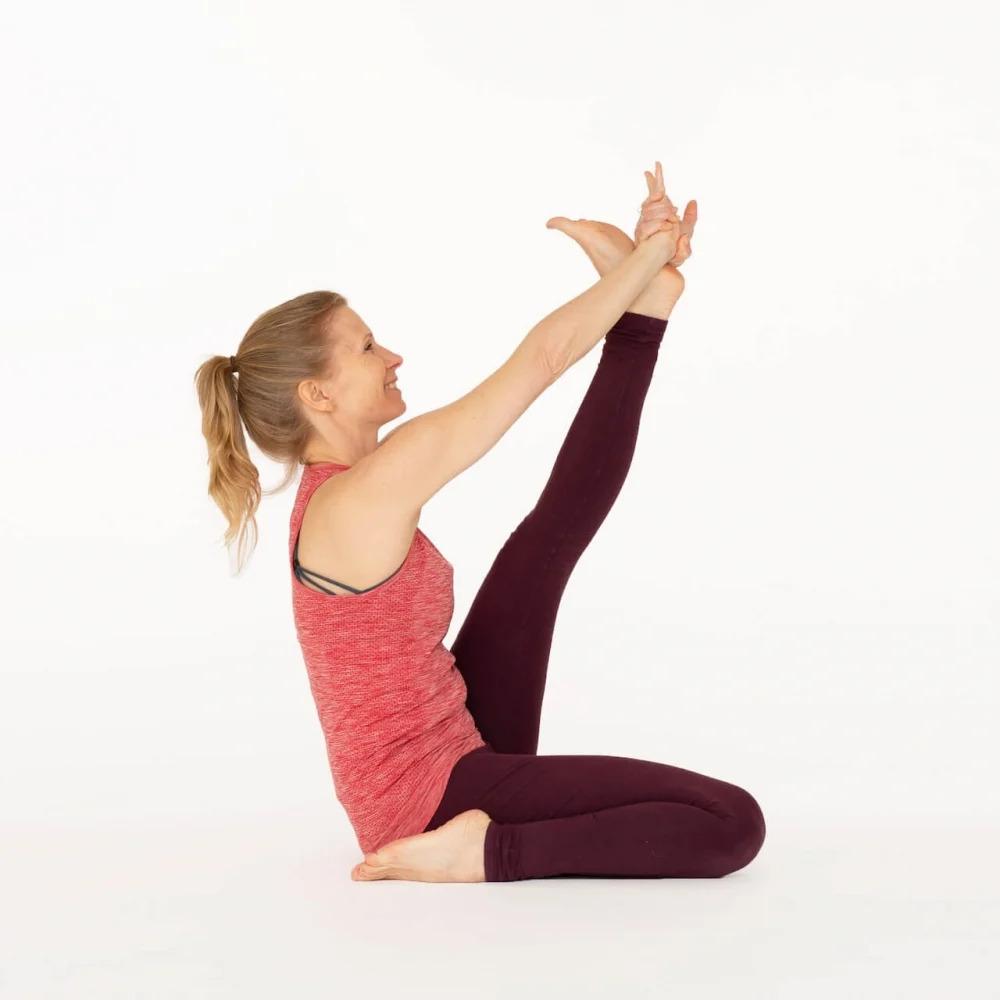Heron Pose Kronuchasana Ekhart Yoga