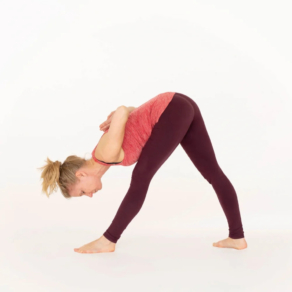 Intense side stretch pose Parsvottanasana