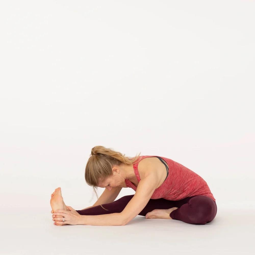 Janu Sirsasana Head to knee pose Ekhart Yoga