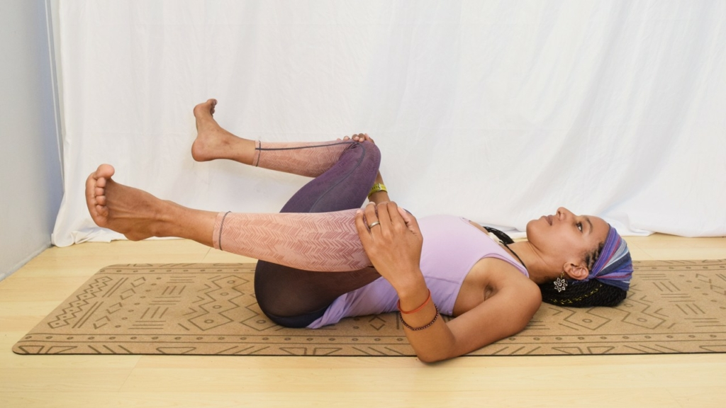 malasana lying on your back