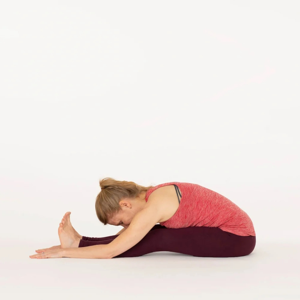 Paschimottanasana Seated Forward bend Ekhart Yoga