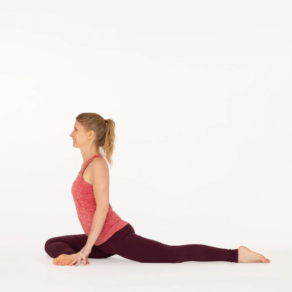 Pigeon pose Eka Pada Rajakapotasana Ekhart Yoga