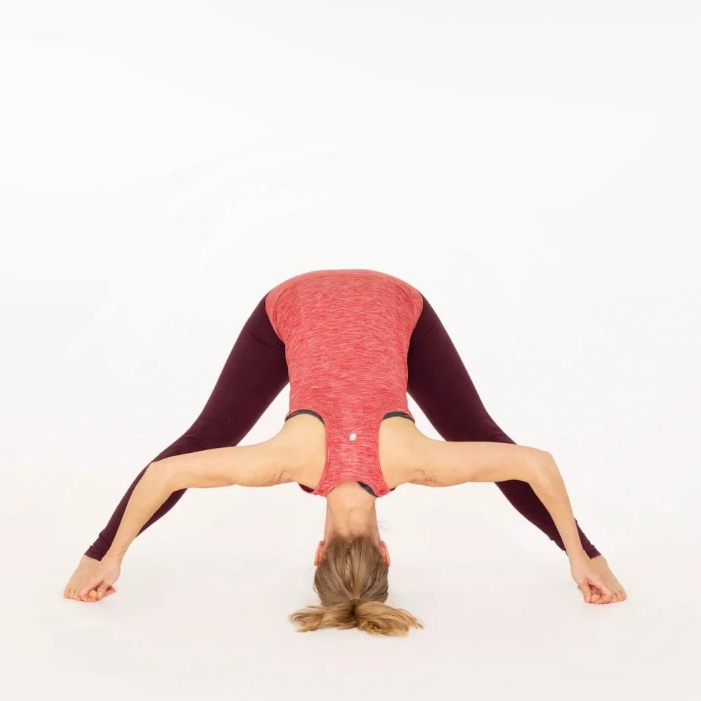 Prasarita Padottanasana D Forward fold Yoga pose