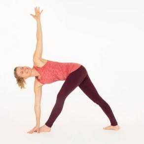 revolved triangle pose  ekhart yoga