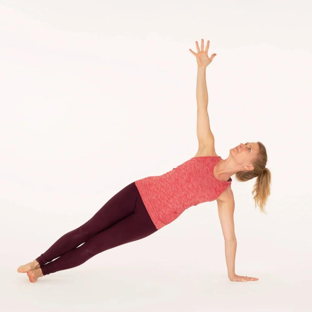 Side plank pose Vasisthasana Ekhart Yoga