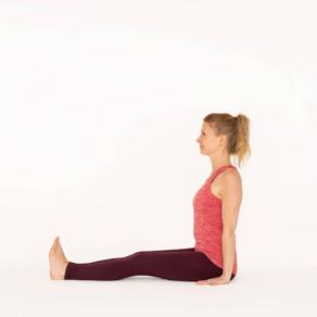 Staff Pose Dandasana Ekhart Yoga
