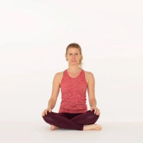 Sukhasana Easy cross legged yoga pose