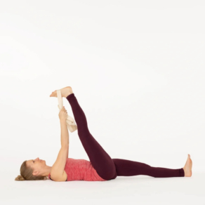 Supta Padangusthasana Yoga pose