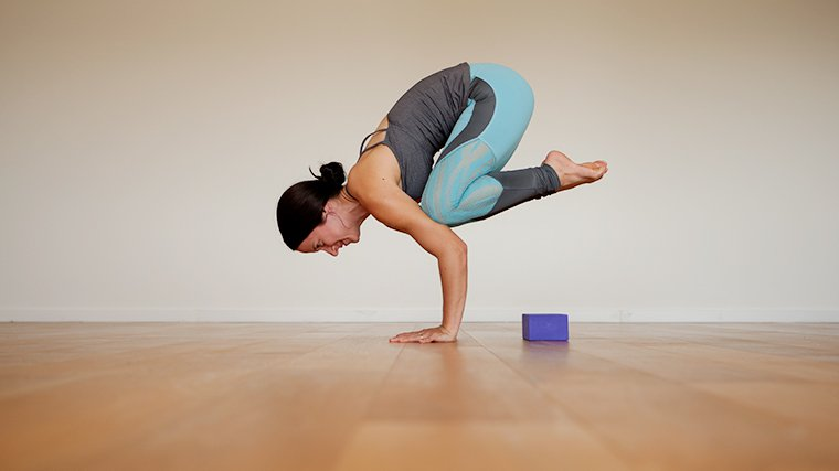 MacKenzie Miller in Crow pose